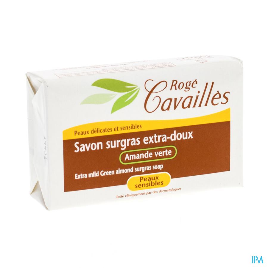 Rogé Cavaillès extrazachte overvette zeep groene amandel 150 g