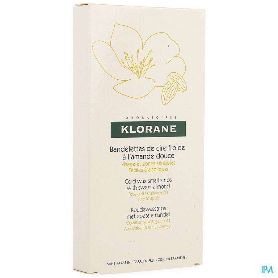 Klorane Ontharing strips (gelaat en gevoelige zones)
