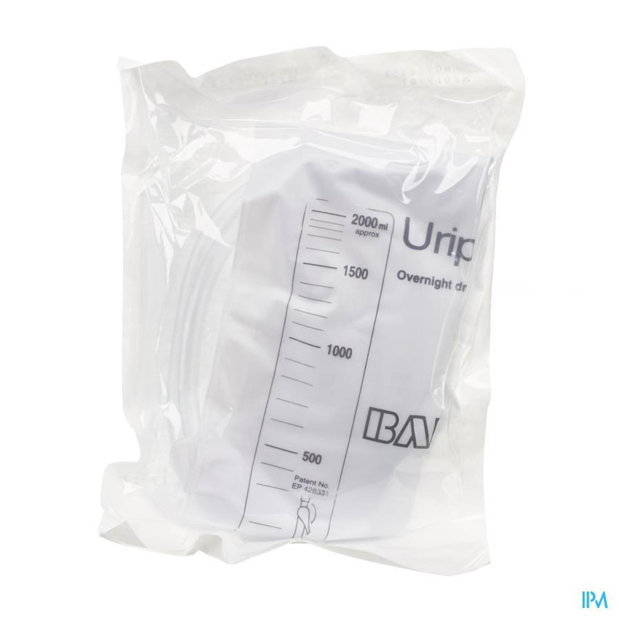 Urinezak 2 liter  zonder kraan (steriel)