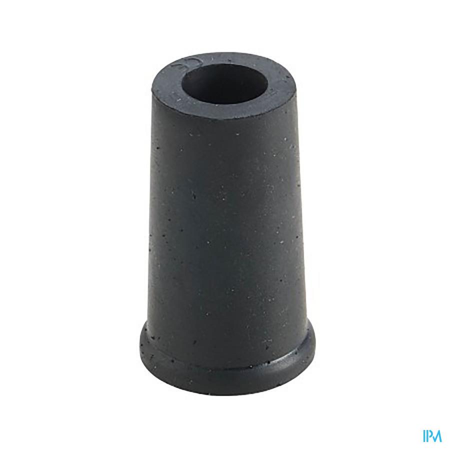 dop in rubber voor gaanstok zwart 14mm