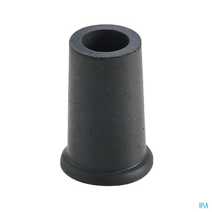 dop in rubber voor gaanstok zwart 16mm