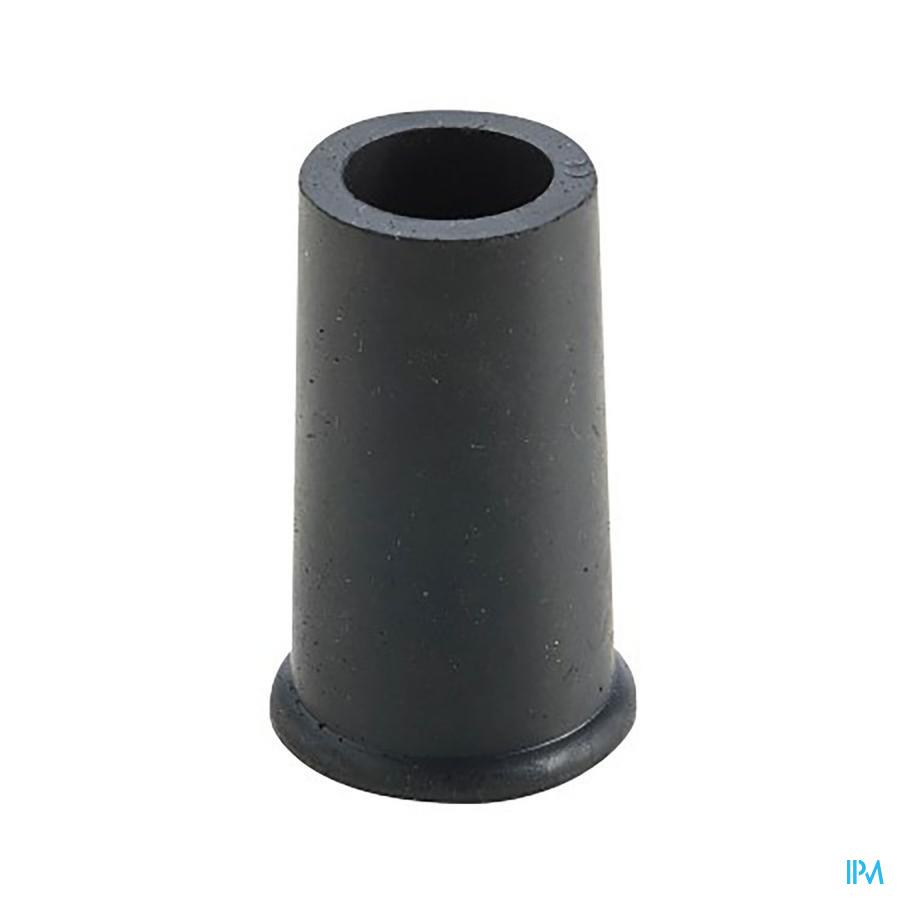 dop in rubber voor gaanstok zwart 22mm