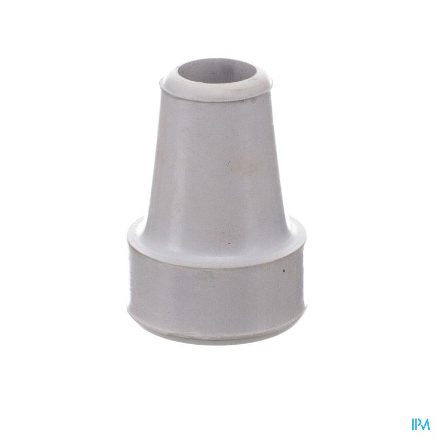 dop in rubber voor kruk en gaankader grijs 19mm