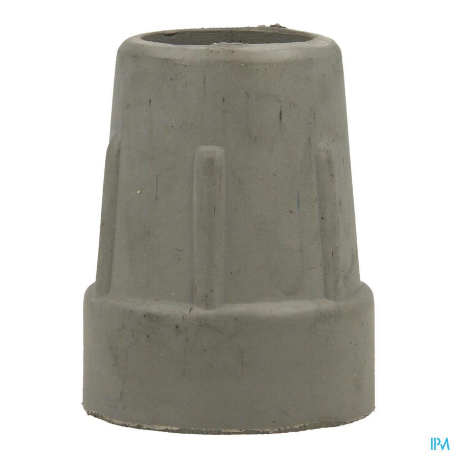 dop in rubber voor kruk en gaankader grijs 24mm