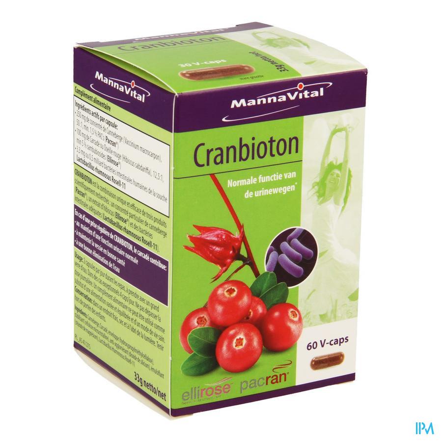 Mannavital Cranbioton (60 capsulen)