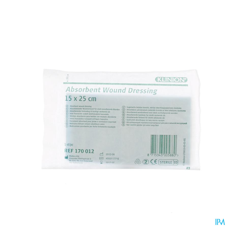 Klinion absorberend verband 15x25cm