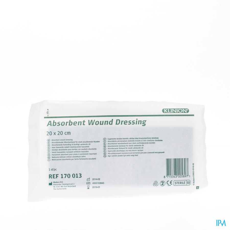 Klinion absorberend verband 20x20cm