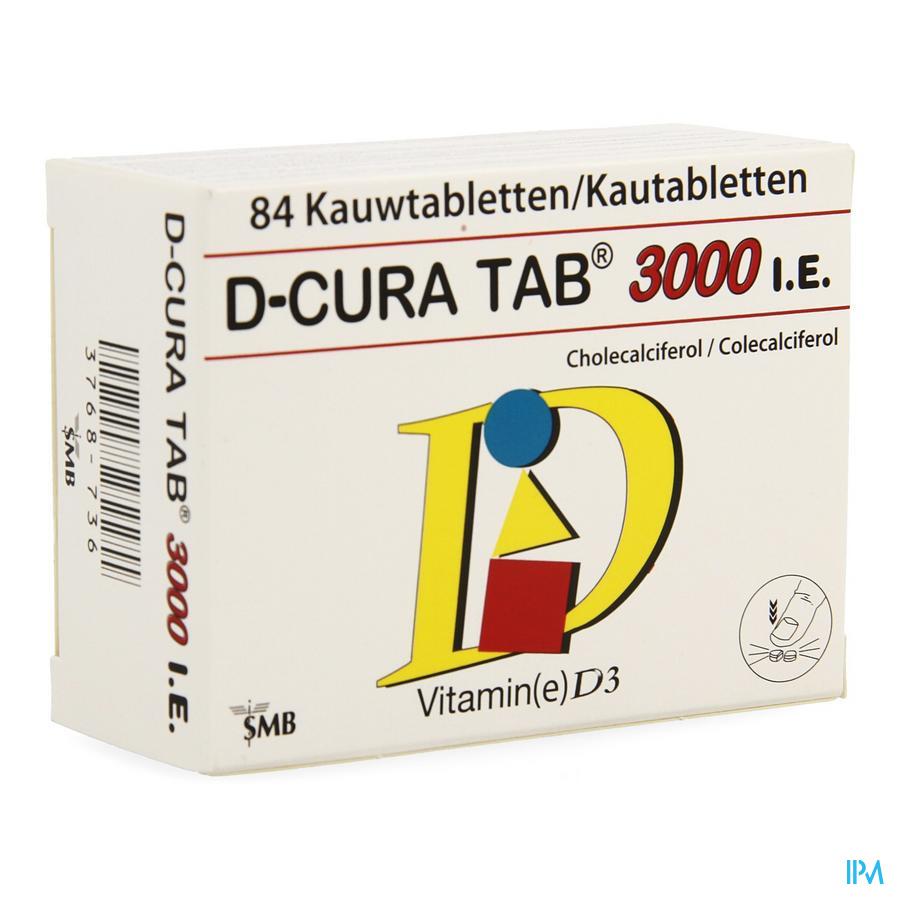 D-Cura kauwtabletten 3000  (84 smelttabletten)