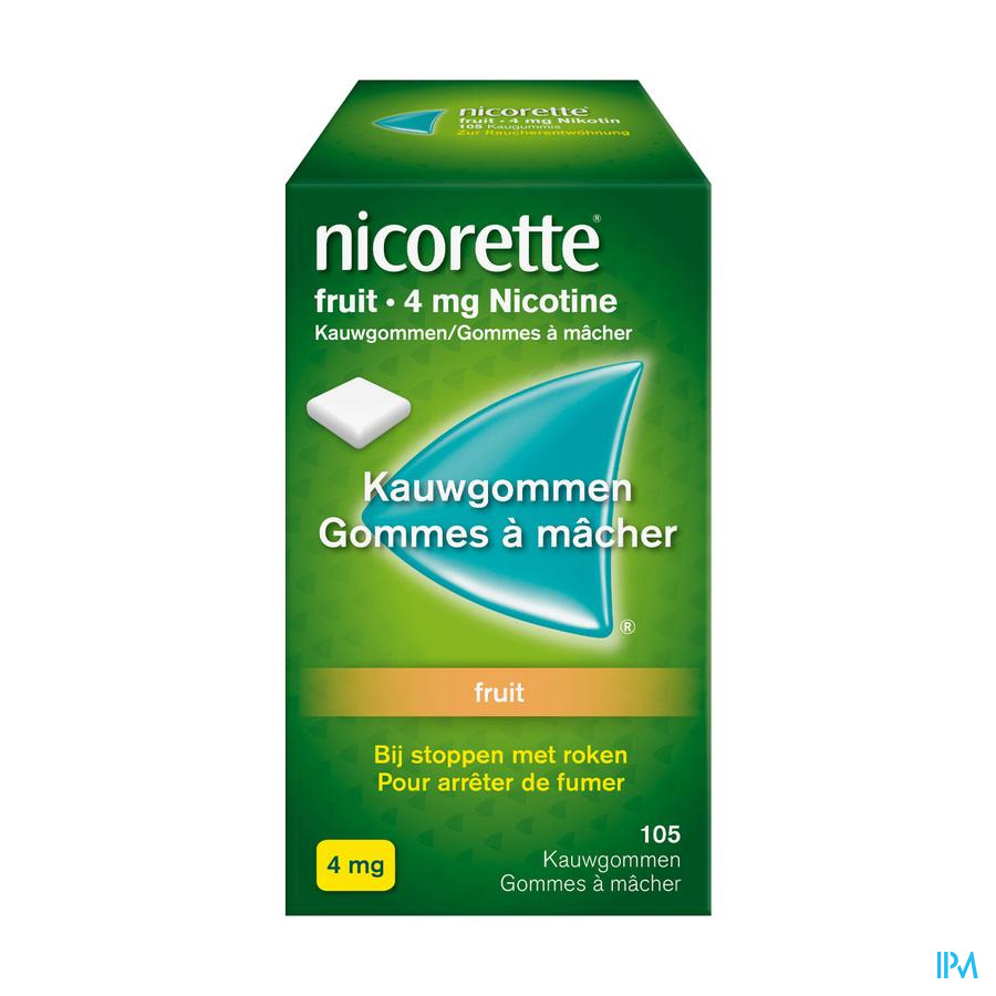 Nicorette kauwgom fruit (4 mg)