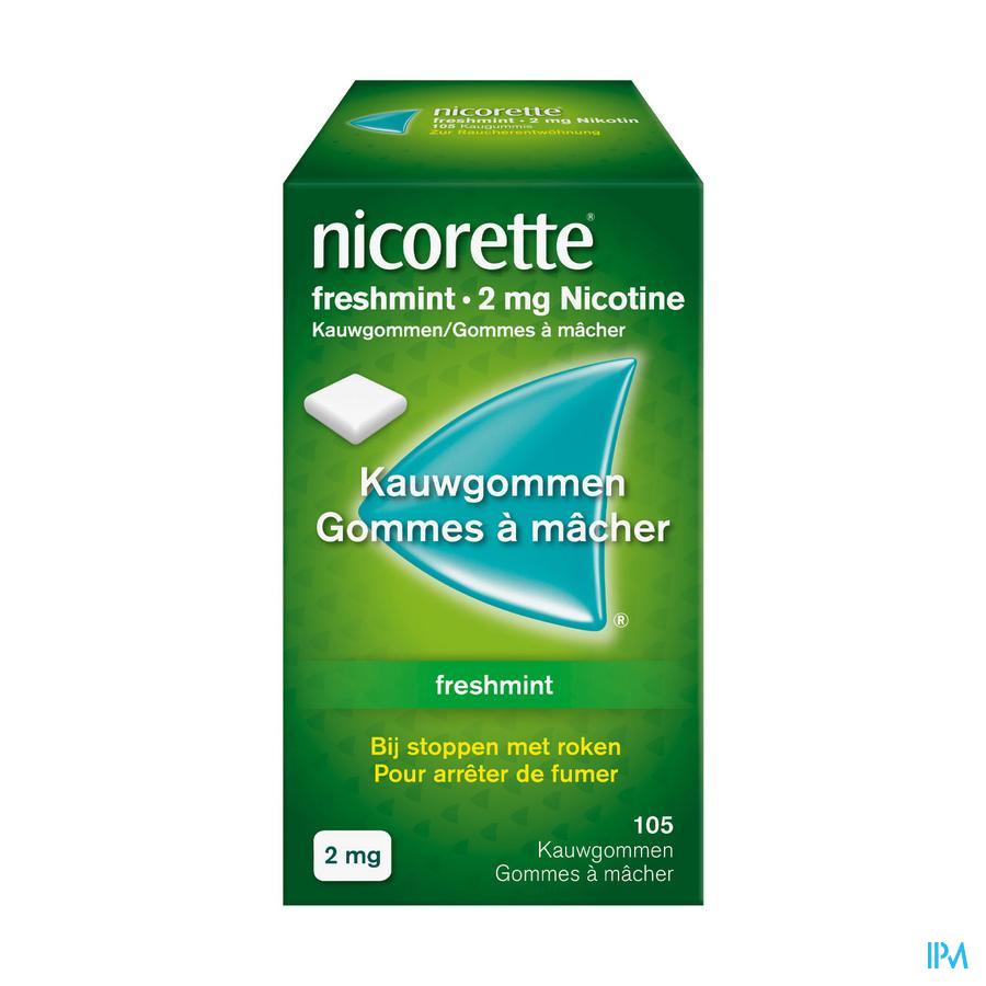Nicorette kauwgom  Freshmint 2 mg (105 stuks)
