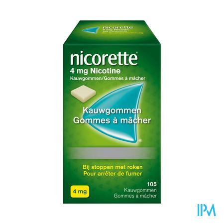 Nicorette kauwgom 4 mg (105 stuks)
