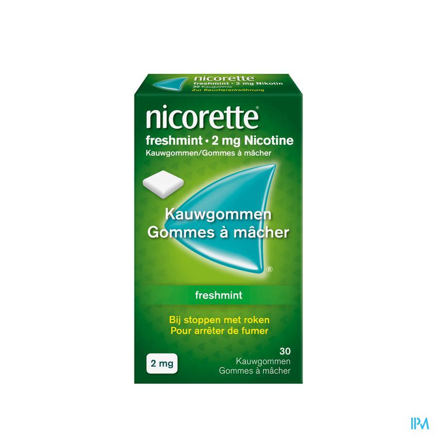 Nicorette kauwgom Freshmint 2 mg (30 stuks)
