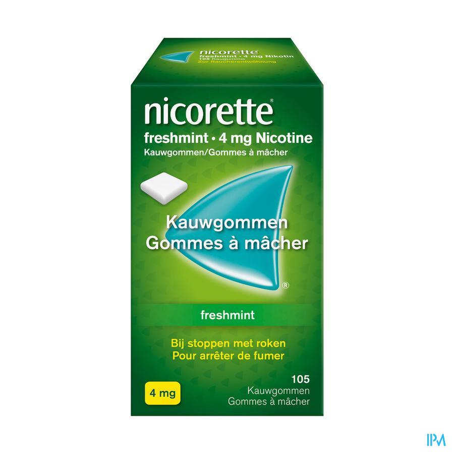 Nicorette kauwgom Freshmint 4 mg (105 stuks)