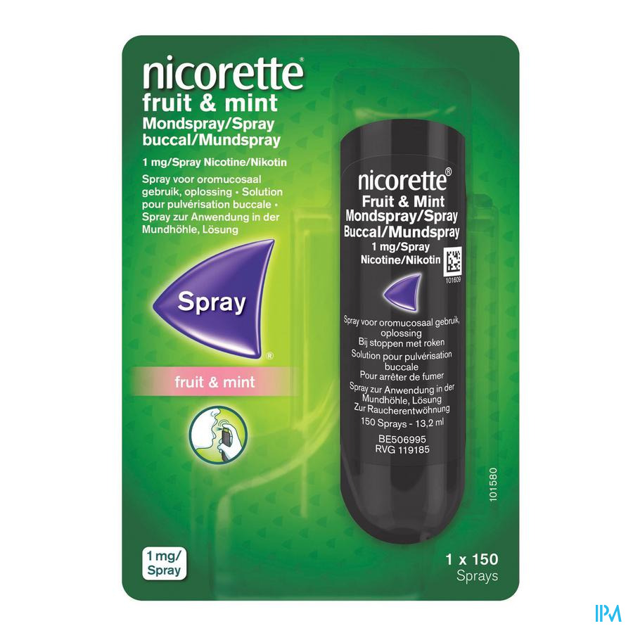 Nicorette spray Fruit & munt (150ml)