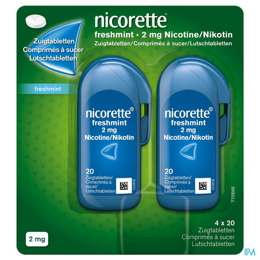 Nicorette zuigtablet  Freshmint 2 mg (80 stuks)