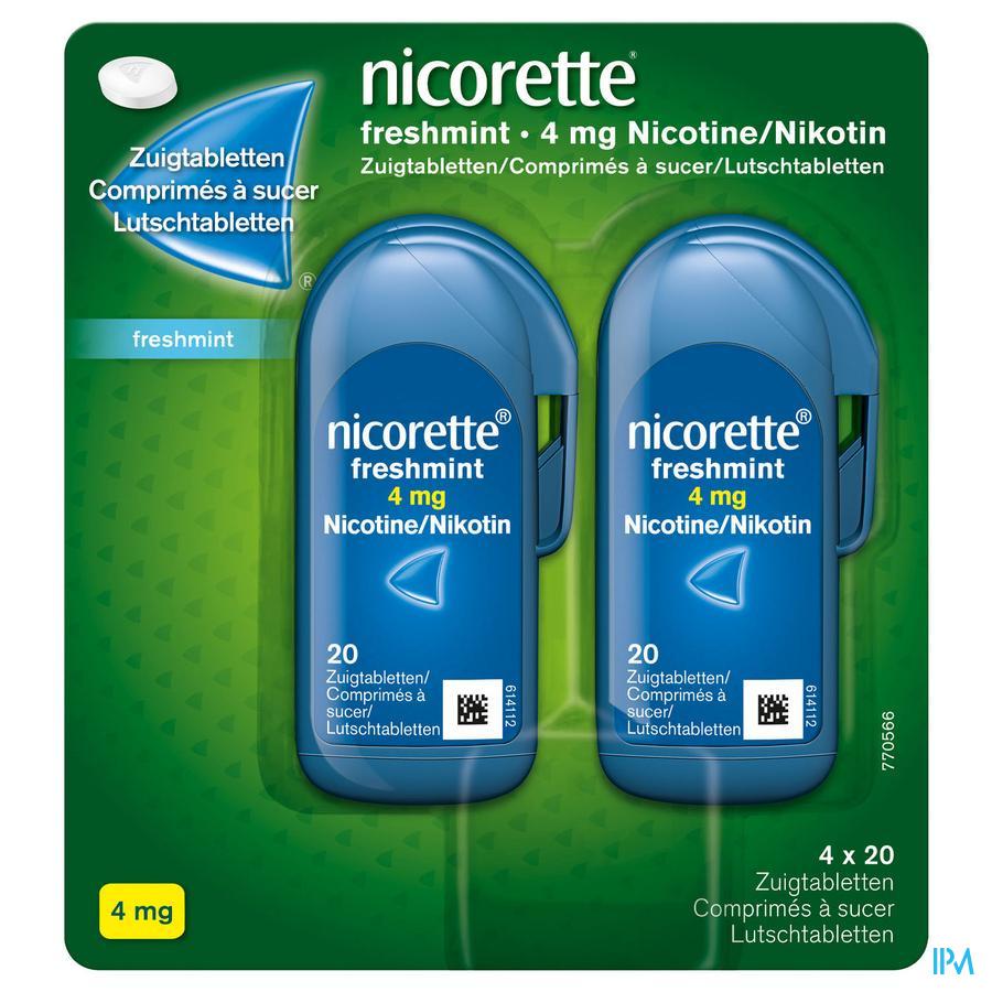 Nicorette zuigtablet  Freshmint 4 mg (80 stuks)