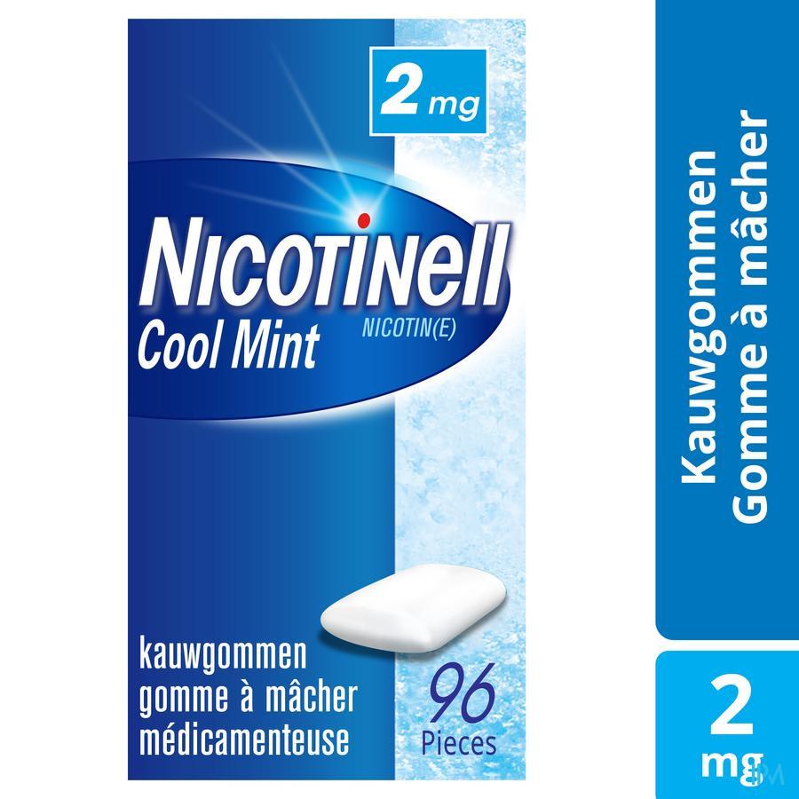 Nicotinell Cool Mint 2 mg kauwgom (96 stuks)