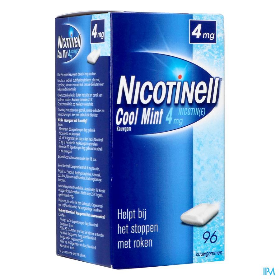 Nicotinell Cool Mint 4 mg kauwgom (96 stuks)