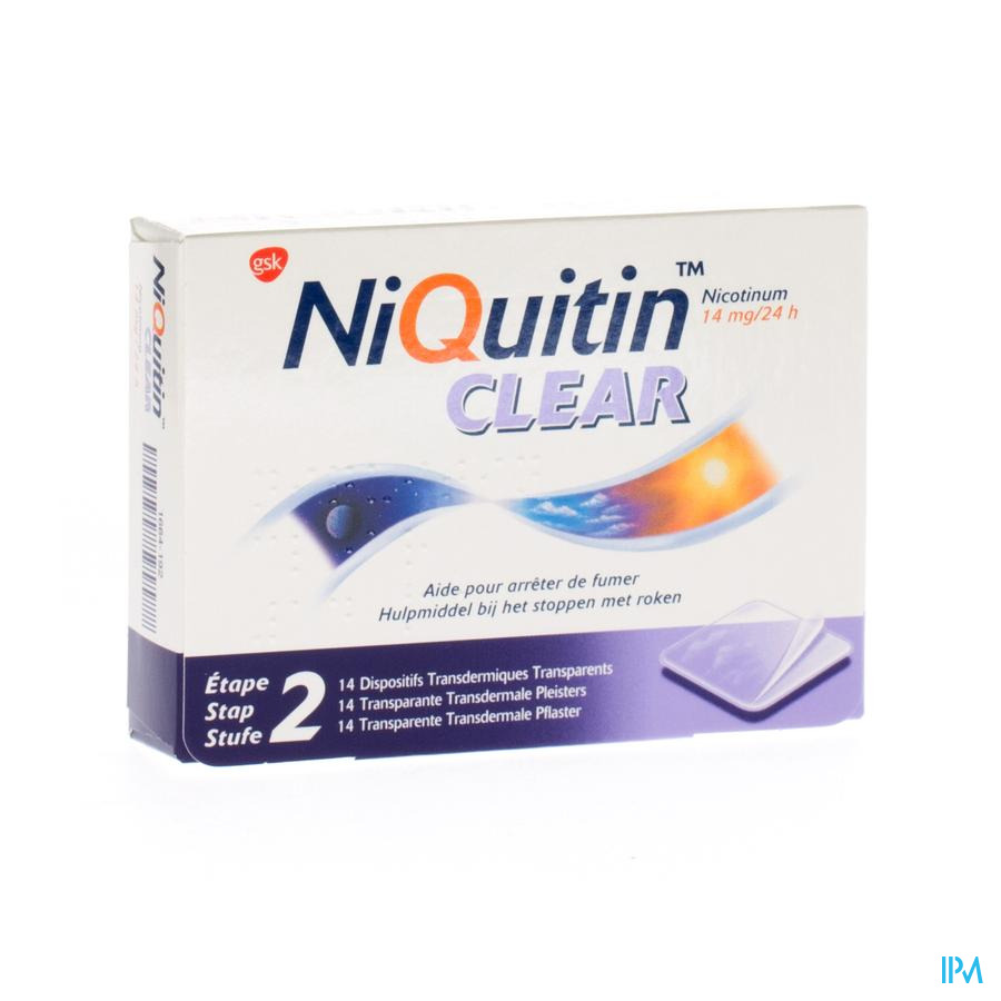 Niquitin Clear pleisters 14mg (14 stuks)