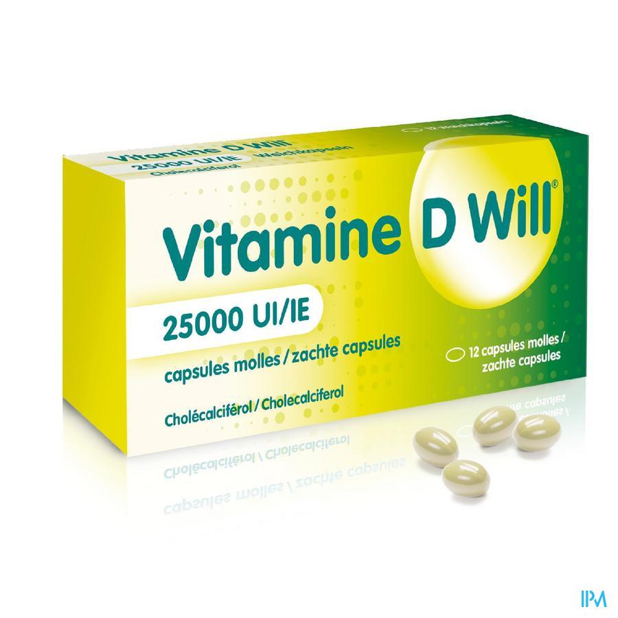 Vitamine D Will 25.000 IE (12 capsules)