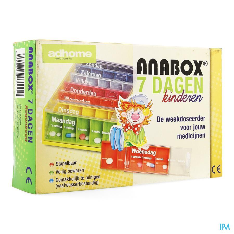 Anabox Kinderpillendoos 7x5 Regenboog