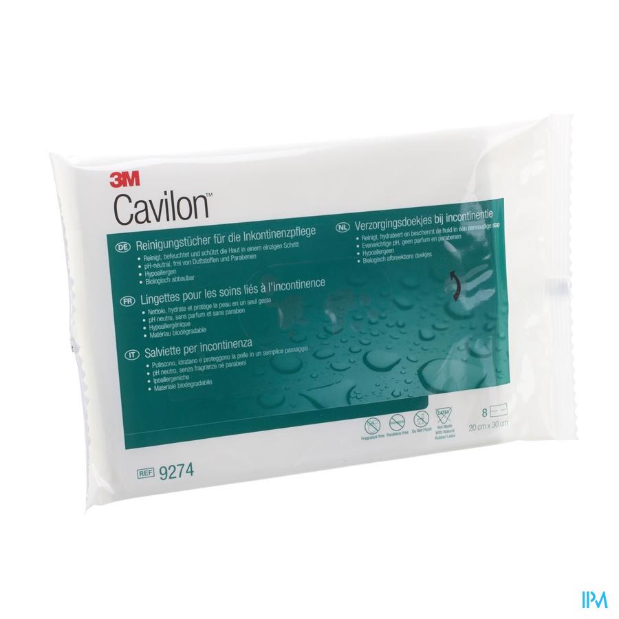 Cavilon reinigingsdoekjes bij incontinentie (8 doekjes)