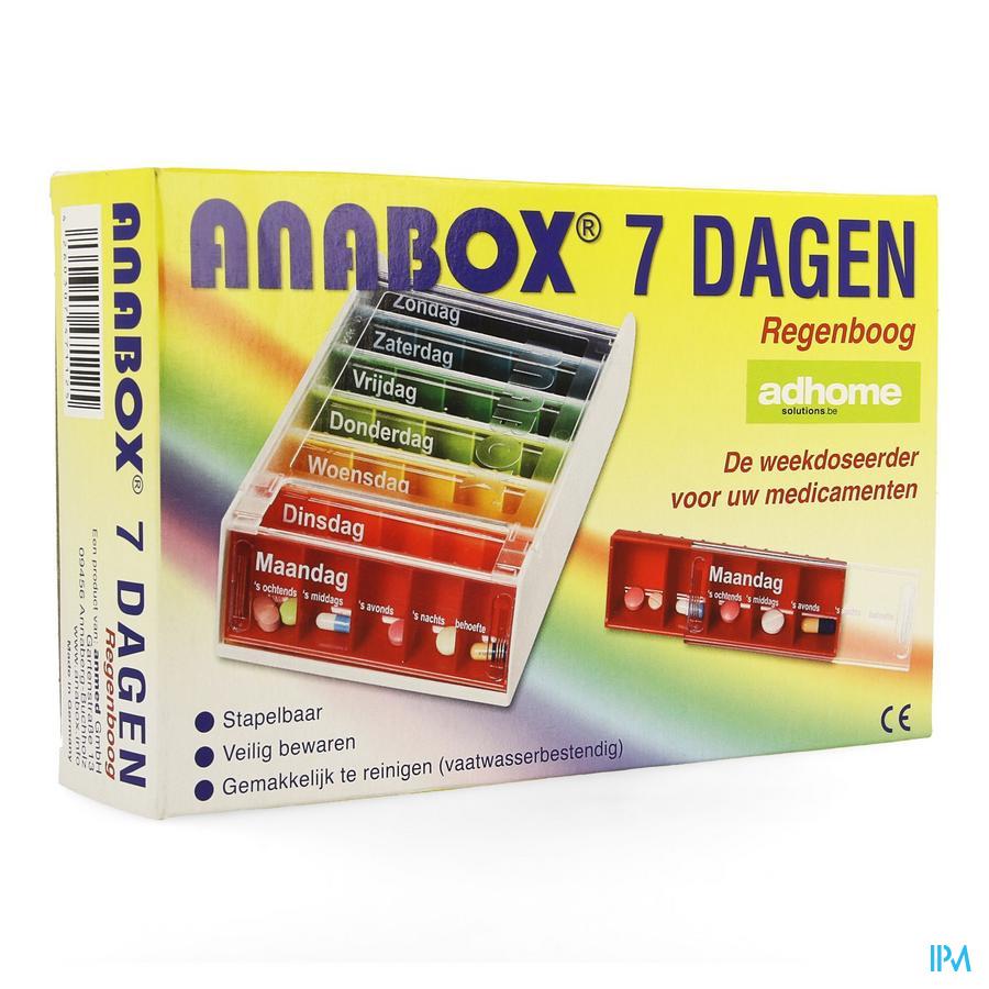 Anabox Boite Medicaments 7x5 Rainbow
