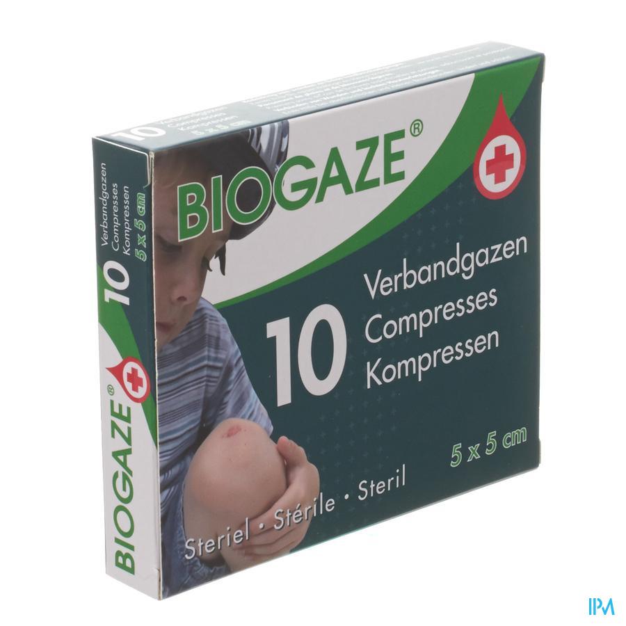 Biogaze verbandgazen 5 x 5 cm