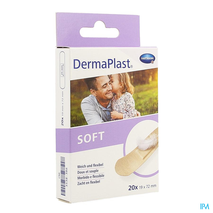 Dermaplast Soft 19x72mm (20)