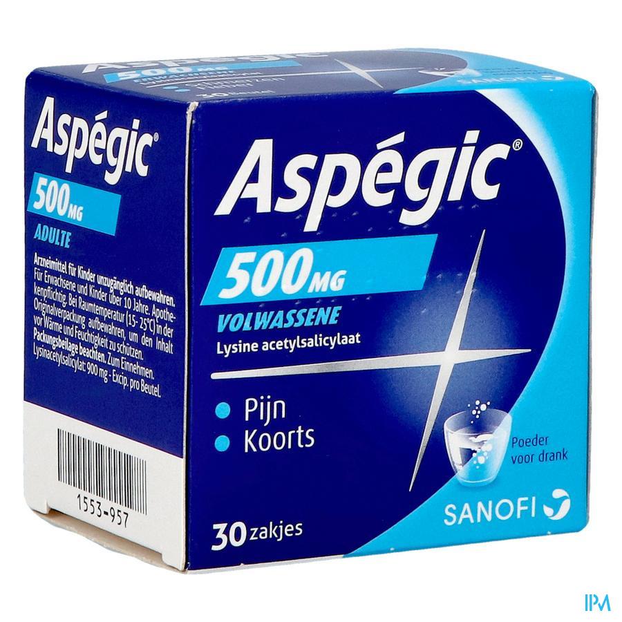 Aspegic 500 mg (30 zakjes)