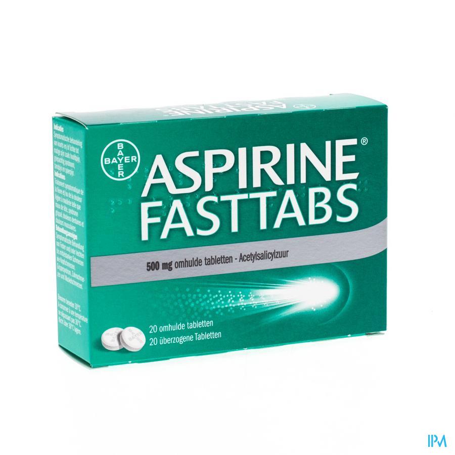 Aspirine fasttabs 500 mg (20 tabletten)