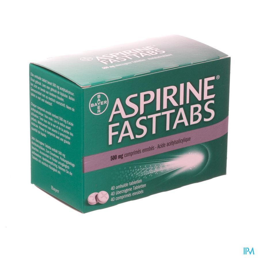 Aspirine fasttabs 500 mg (40 tabletten)
