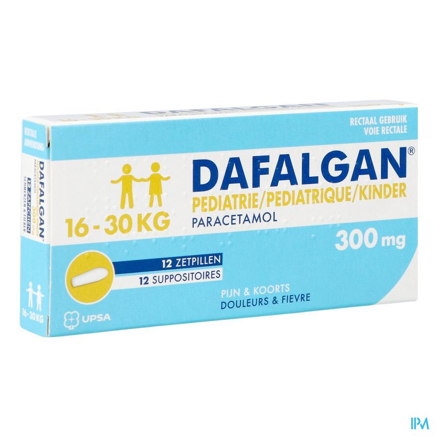 Dafalgan 300 mg (12 suppo's)