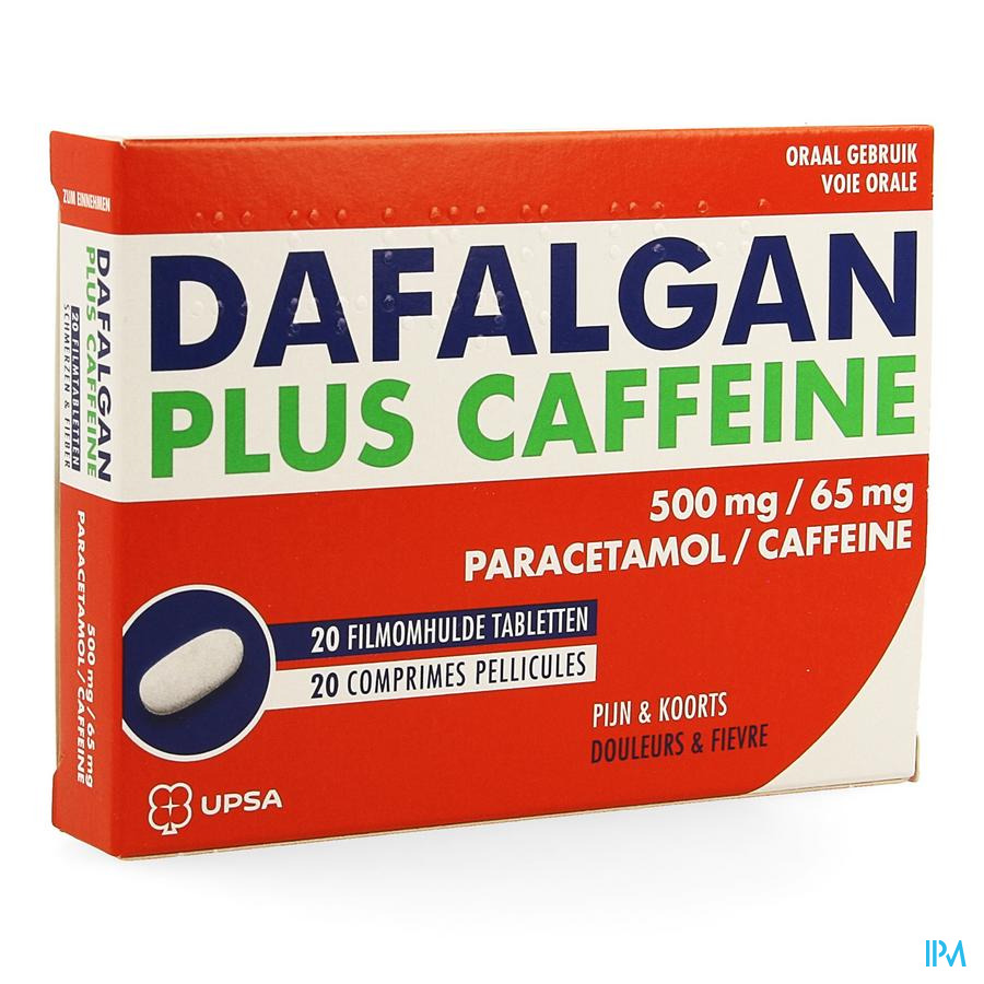 Dafalgan plus caffeine (20 tabletten)