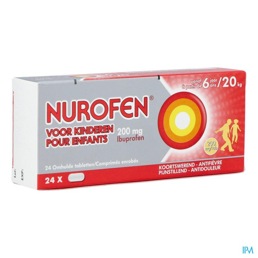 Nurofen kind 200 mg (24 tabletten)