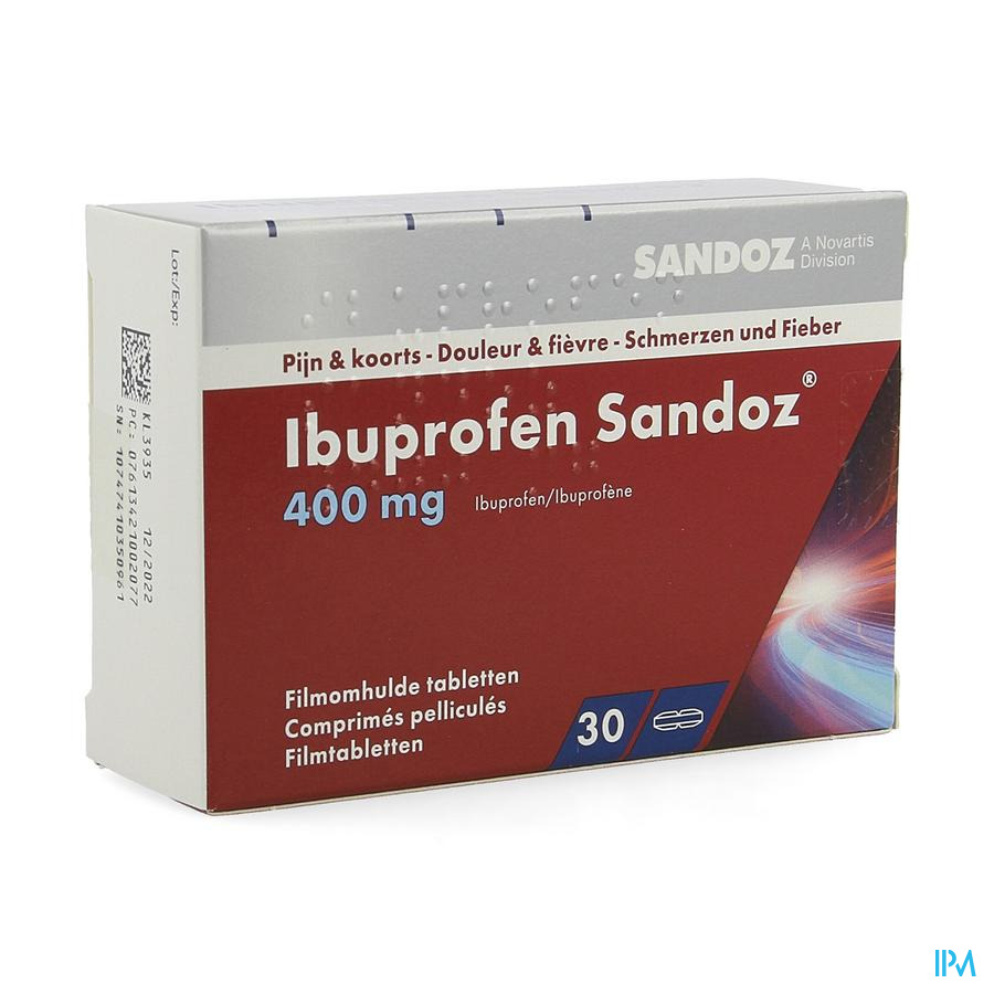 Ibuprofen Sandoz (30 comp)