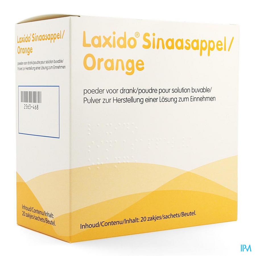 Laxido sinaasappel / 20 zakjes