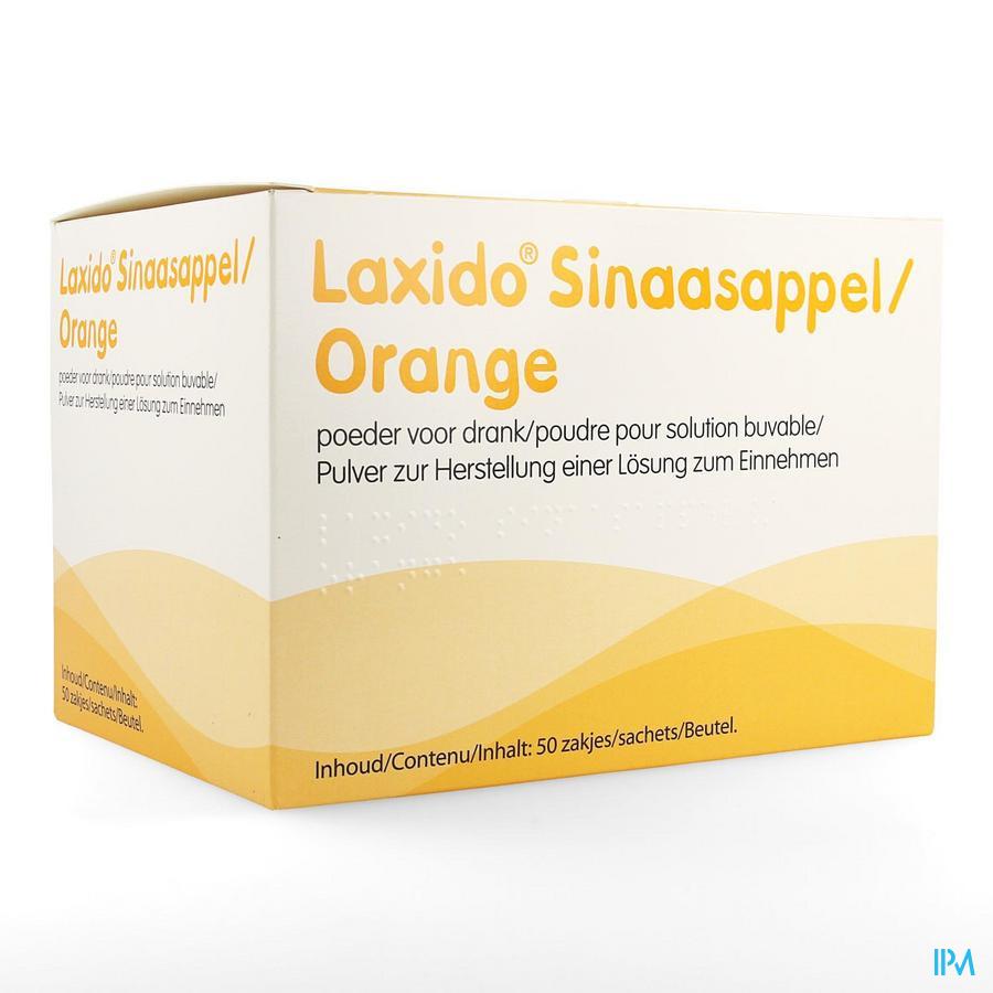 Laxido sinaasappel / 50 zakjes