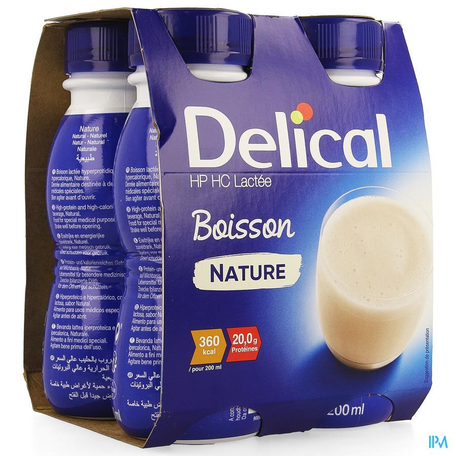 Delical HP-HC Natuur 4x200 ml (360 kcal/ flesje)