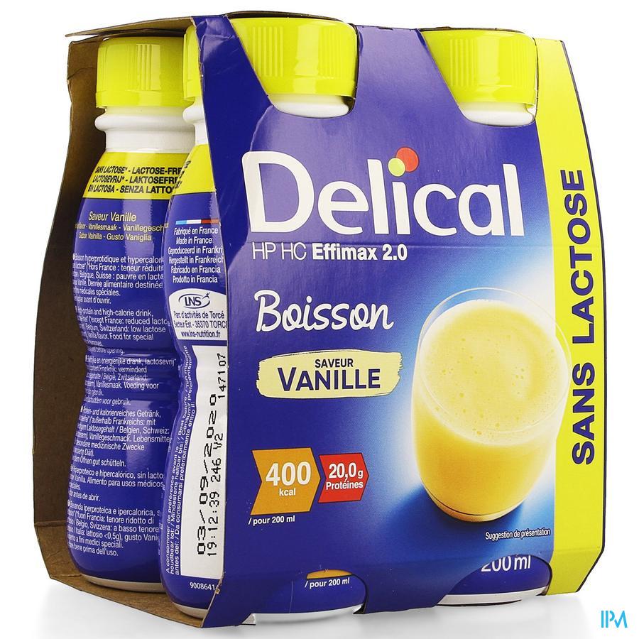 Delical EFFiMAX 2.0 Vanille 4x200 ml (400 kcal/ flesje)