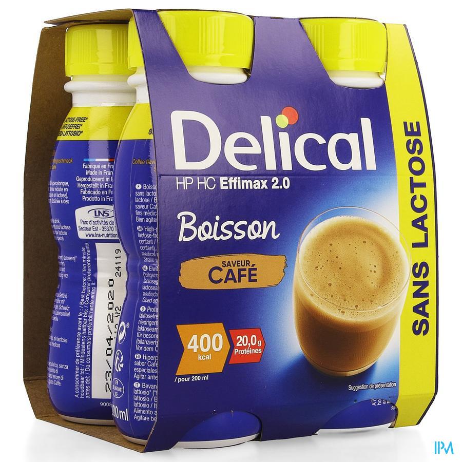 Delical EFFiMAX 2.0 Koffie 4x200 ml (400 kcal/ flesje)