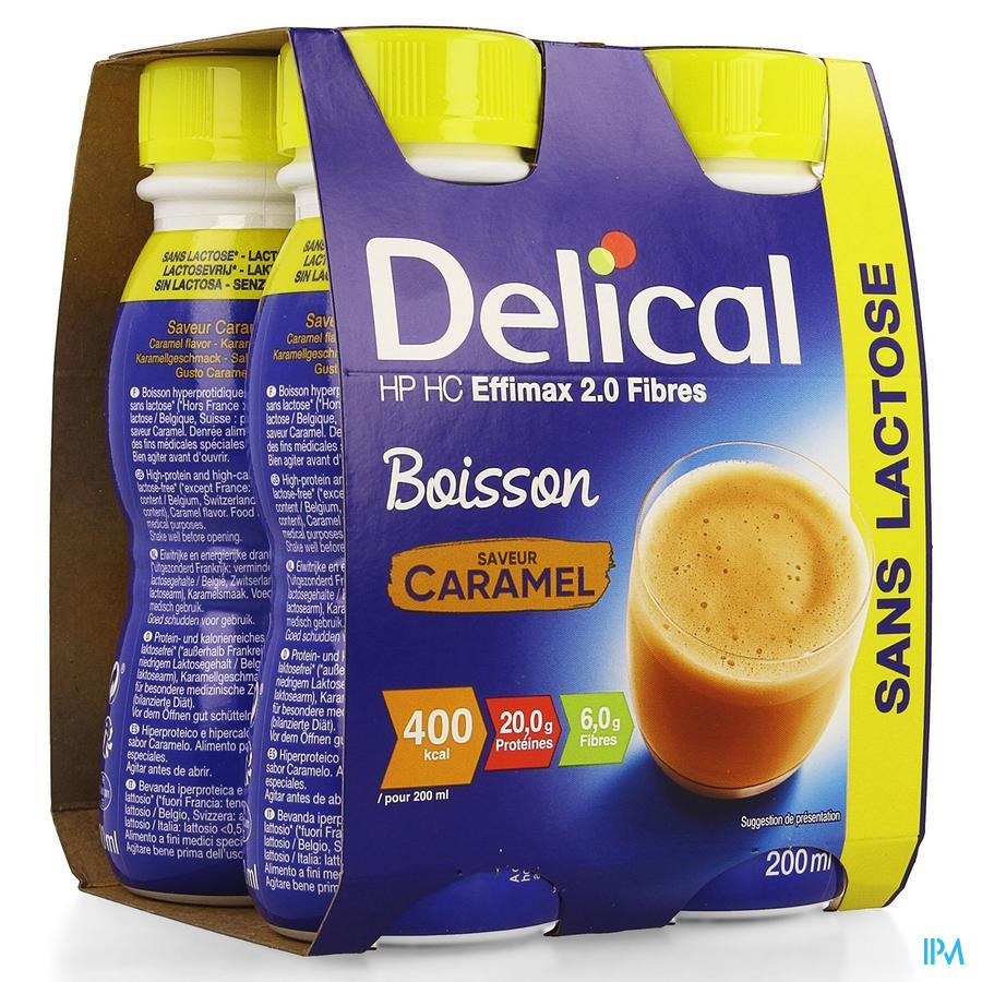 Delical EFFiMAX 2.0 Karamel (+vezels) 4x200 ml (400 kcal/ flesje)