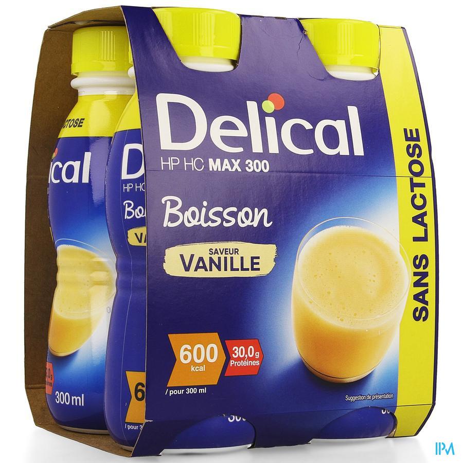 Delical MAX.300 Vanille 4x300 ml (600 kcal/ flesje)