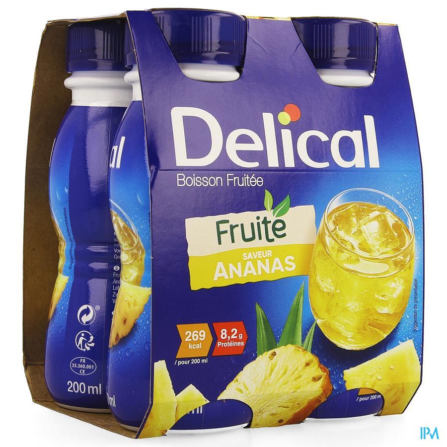 Delical Vruchtendrank Ananas (269 kcal/ flesje)
