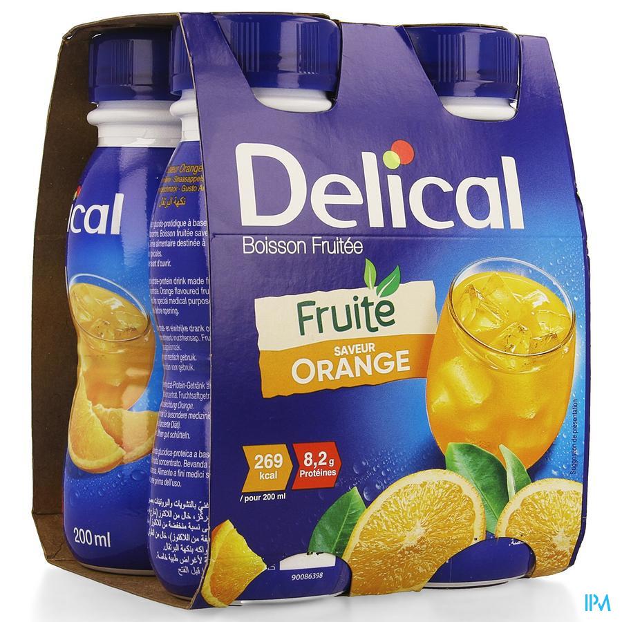 Delical Vruchtendrank Sinaasappel (269 kcal/ flesje)