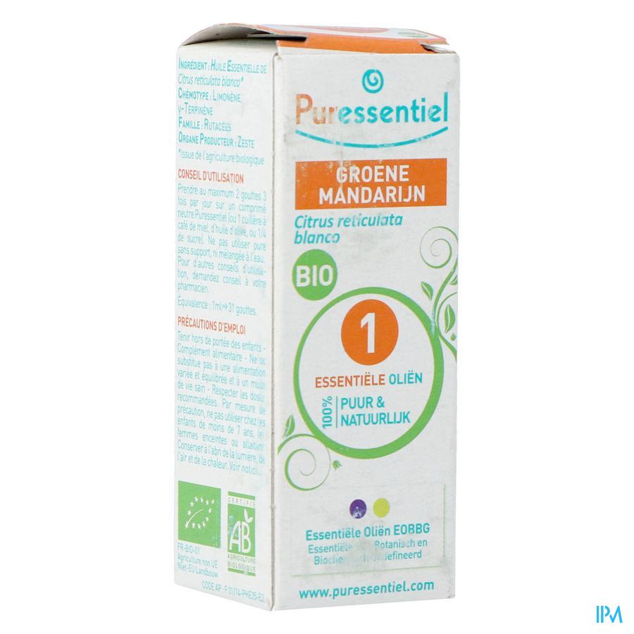 Puressentiel essentiële olie groene mandarijn (10ml)