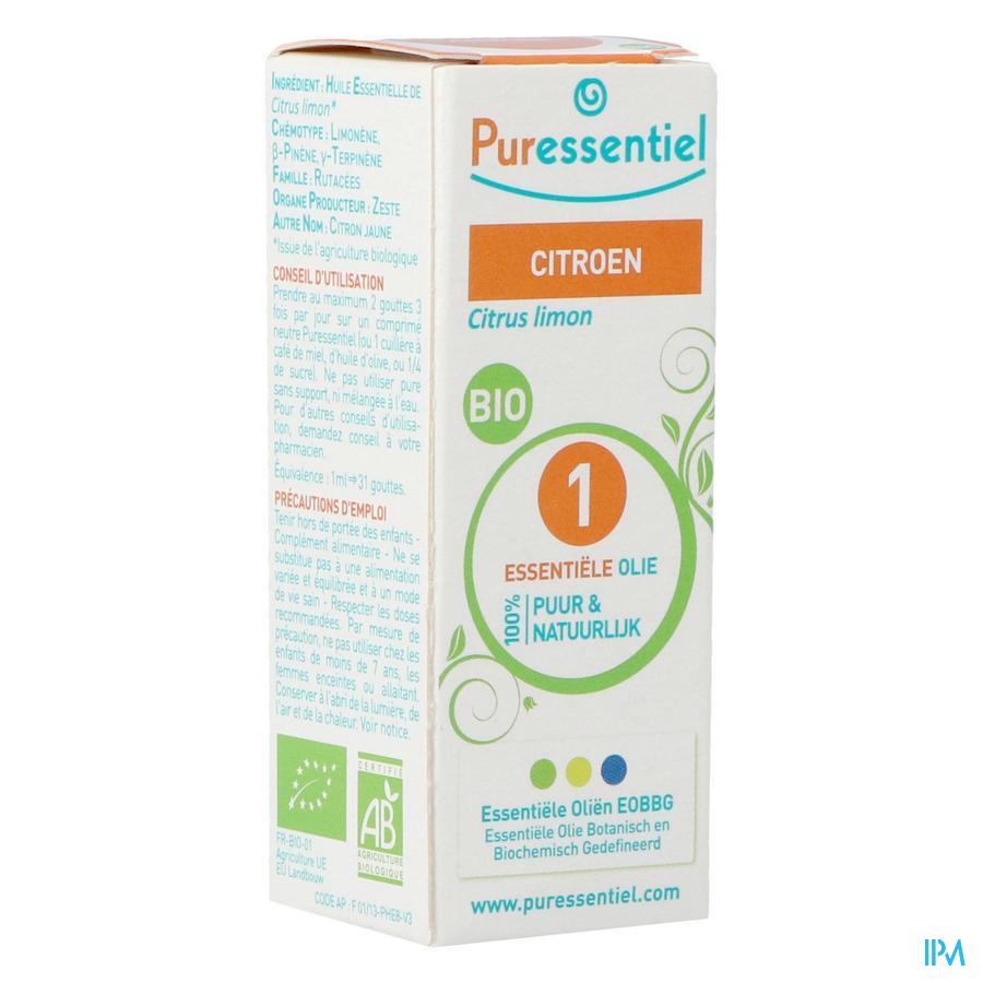Puressentiel essentiële olie citroen (10ml)