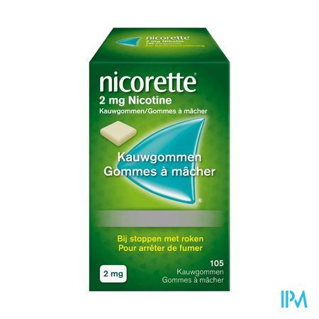 Nicorette kauwgom 2 mg (105 stuks)