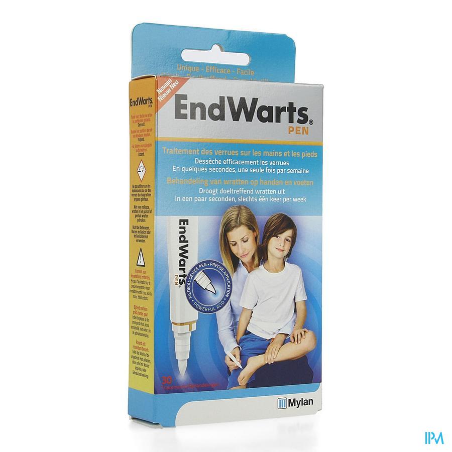 Endwarts pen tegen wratten