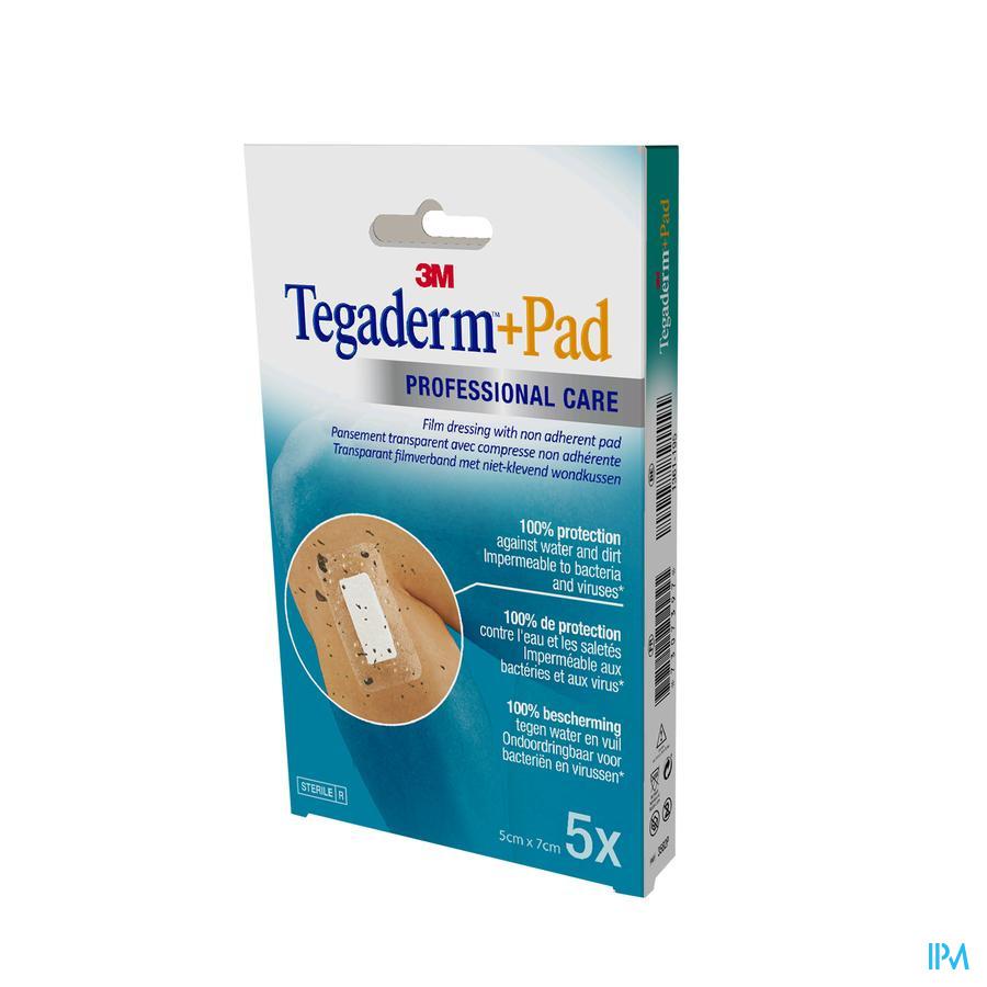 Tegaderm + Pad  Transparant 5cmx 7cm (5 stuks)